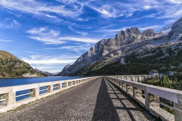 On the Dam of Fedaia Lake