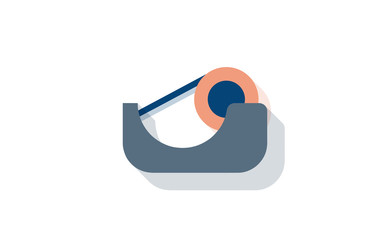 Vector tape roll tool icon with long shadow