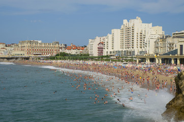 Atlantic sea off the coast of Biarritz
