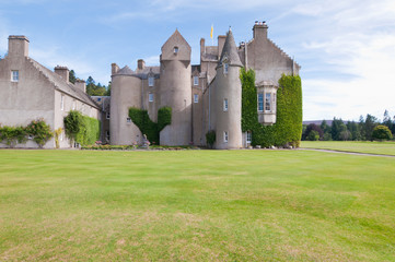 Scottish Castle with a blue sky to background