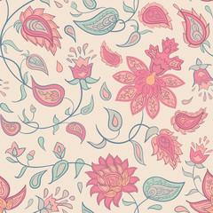 Traditional oriental seamless pattern. Decorative paisley ornament.