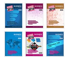 Set of business design templates
