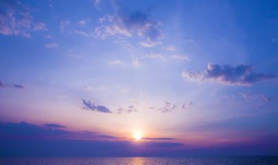 Beautiful sunset at Pattaya, Thailand