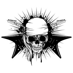 guitars skull_var 3