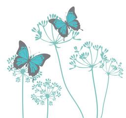 Vector vintage butterflies