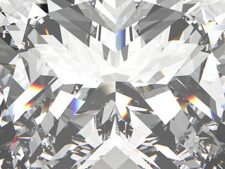 3D illustration crop diamond texture zoom