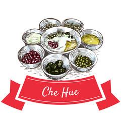 Che Hue colorful illustration.