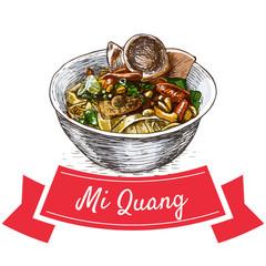 Mi Quang colorful illustration.