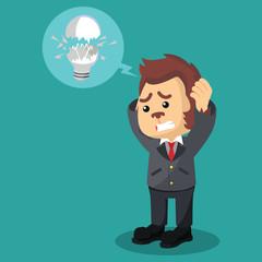 business monkey got his bulb broken