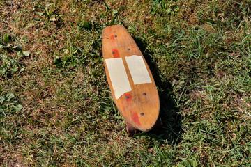 Wooden 70's skate board skateboard