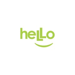 Hello Greeting Letter Word Logo Vector