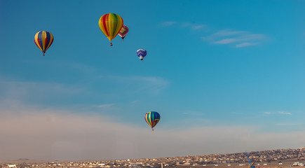 Hot Air Balloon over Rio Rancho New Mexico