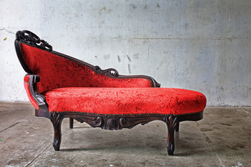 Red Chair in vintage room