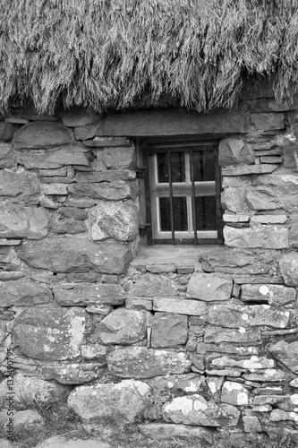 schottland culloden old leanach cottage stockfotos und lizenzfreie bilder auf. Black Bedroom Furniture Sets. Home Design Ideas