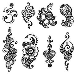 tattoo henna mandala set