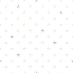 Hand drawn stars seamless pattern. Pastel and gray colors.