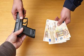Τrade weapons.Αrms trafficking.