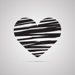 Векторная иллюстрация иконка простой символ плоский для веб Heart Сердце сердечко