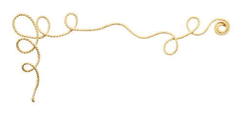 Beige cotton rope corner