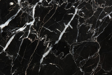 texture or background of Detailed of black marble have white pattern (Marquina).