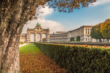 View of Arch in Jubel Park Brussels Belgium