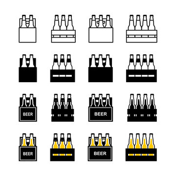 Beer box icon set