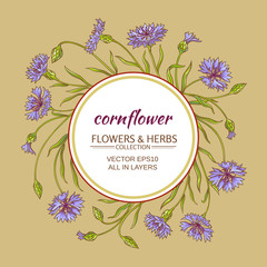 corn flower vector frame