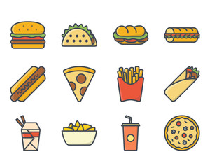 Fast Food Icon Colored