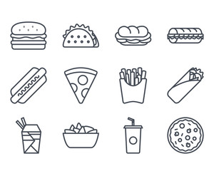 Fast Food Icon Outlined