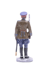 Tin Soldier  captain of the NKVD border troops 1945 isolated on