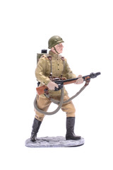 Tin Soldier USSR infantryman isolated on white