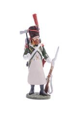 tin soldier Sapper Irish Legion 1809 Isolated on white