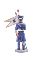 tin soldier sergeant Ataman Cossack regiment, 1814 Isolated on w