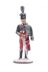 tin soldier officer Hussars, 1812 Isolated on white