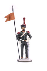 tin soldier Sapper 13th horse Jaeger Regiment, 1808 Isolated on