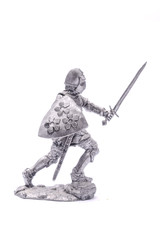 tin soldier a medieval knight  isolated on white