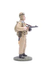 Tin Soldier machine gunner air Airborne Brigade USSR isolated on