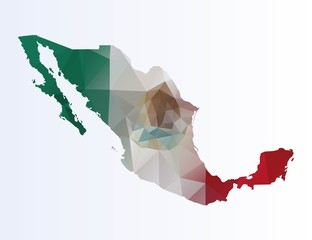 Polygonal map of Mexico