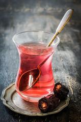 Eastern food - tea and dates