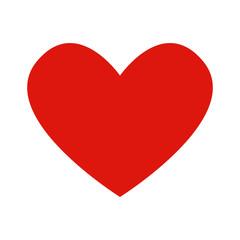 Flat icon heart. Red heart. Vector illustration.