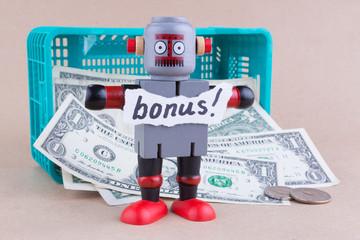 Bonus word on standing robot