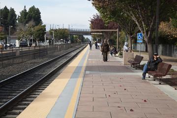 Train Station in Sunnyvale, California.
