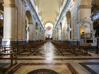 Innenraum des Dom St. Agata, Piazza del Doumo, Catania, Provinz Catania, Sizilien, Italien, Europa