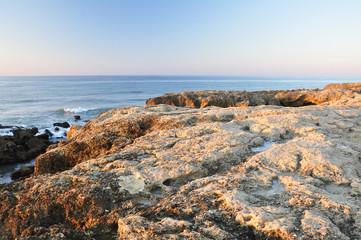 Beautiful rocky seaside of Portugal