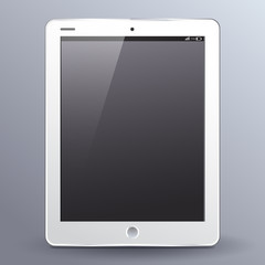 Electronic Device Template : Tablet : Vector Illustration