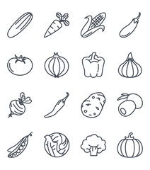 Vegetables Food Icon Outlined