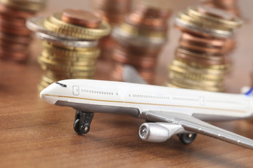 Flugzeug mit Geld