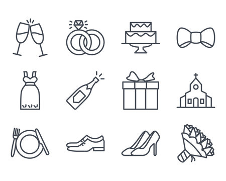 Wedding Icon Outlined