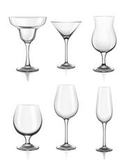 Set of alcohol glasses