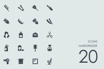 Set of hairdresser icons